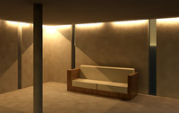 revit sofa 3d model