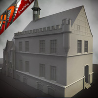 european house 3d model
