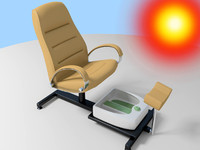 pedicure spa chair 3d model
