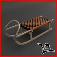 sled sledge 3d model