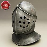 medieval helmet v3 3d model