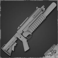 special standalone m203 weapon 3d model