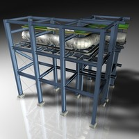 pipeline bridge modular 3d model