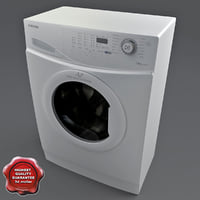 washer dryer samsung 3d model