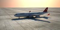 a340 plane 3d model