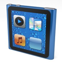 ipod nano multitouch apple display 3d model