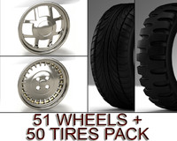 pack 101 51 wheels 3d model
