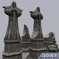 3DRT-Statues-Monk