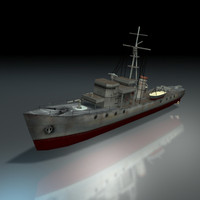 ijn patrol ship world war 3d model