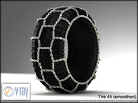 tire 45 (with chain 2)