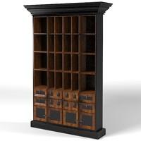 annibale colombo l1394 modular bookcase classic art deco