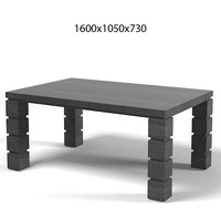 galimberti nino modern contemporary rectangular  dining table LO.024