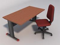 games desk chair 01 3d model
