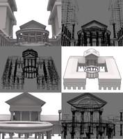 tempio di 3d model