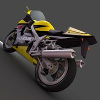 motorbike bike suzuki 3d model