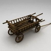 medieval cart 3d model