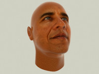 barrack obama head 3d model