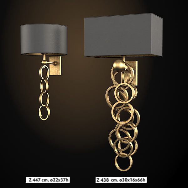 sigma elle due z 447  438 art deco wall lamp sconce modern contemporary chain .jpg