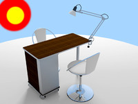 manicure table 3d model