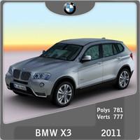 2011 bmw x3 3d model