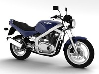 suzuki gs500 1994 3d model