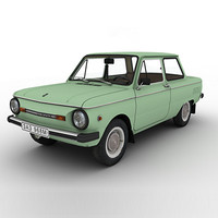 zaz-968m zaporozhets car 3d model