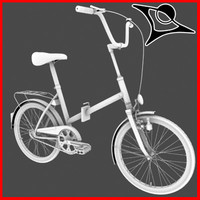 typical bike 3d model