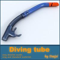 diving tube 3d model