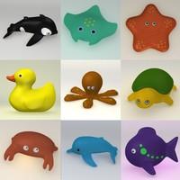 bath toys 3d model