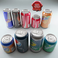 aluminium drinks 3d model