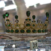 emerald crown 3d model