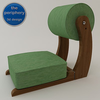 portable meditation chair 3d model