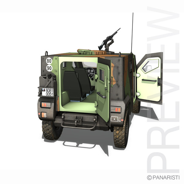 - armoured army pvp 3d model - Panhard PVP - Army... by Panaristi