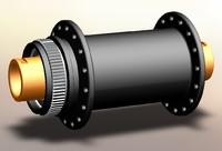 shimano xtr hub 3d model