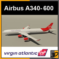 airbus virgin atlantic 3d model