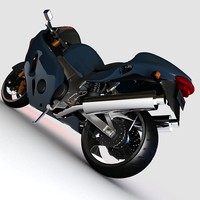 bike motorbike motorcycle 3d model
