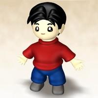 young boy 3d model