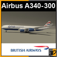 airbus british oneworld 3d model