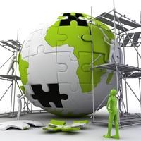 puzzle globe 3d model