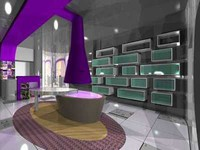 retail interior hat 3d model