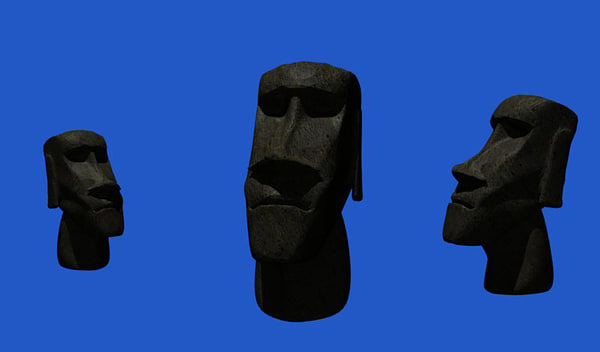 moai statue easter island 3d model - Moai... by Ghostfishe
