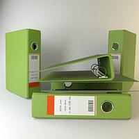 binder file 3d model