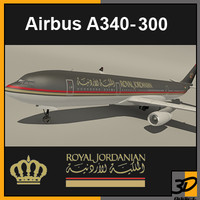 airbus royal jordanian 3d model