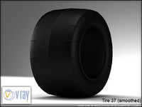 tire wheels 37 3d model