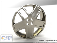 wheel 14 3d model