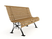Classic Park Bench - vray materials