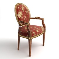 rich armchair 3d model