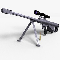 barrett m90 sniper rifle 3d model