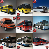 buses v3 bus school 3d model