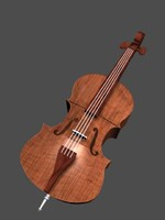 classical contrabass 3d model